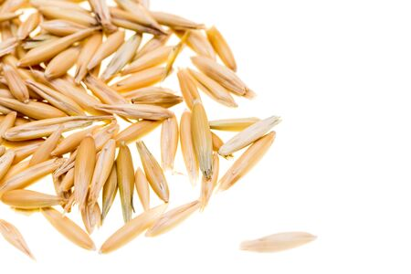 Corn oats on a white background Stock Photo