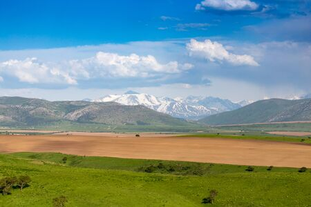 kyrgyzstan: Beautiful landscape of nature in the Tien Shan mountains .
