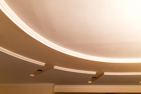 Beautiful decorative ceiling from gypsum as background