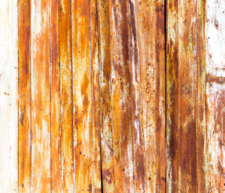 Old rusty metal fence as an abstract background . Stock Photo