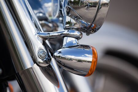 motobike: Headlight on a sport motobike as a detail