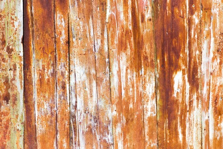 Old rusty metal fence as an abstract background