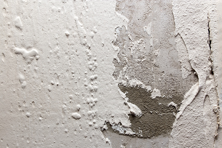wall with white plaster applied as a background