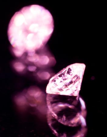 jewelers jewel on a black background. macro Stock Photo