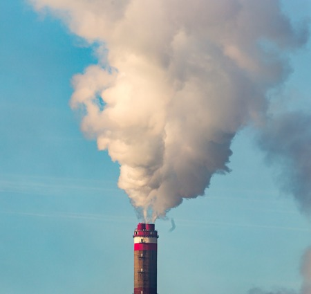 Industrial smoke from the plant pollutes the air .
