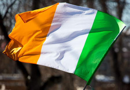 Flag of Ireland in the open air .
