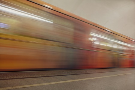 Train in motion in the subway as an abstract background . Banco de Imagens - 109519837