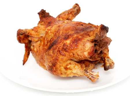 Fresh grilled chicken on a white background . Archivio Fotografico - 111140553