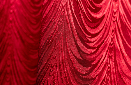 Red curtain as abstract background . Stock Photo