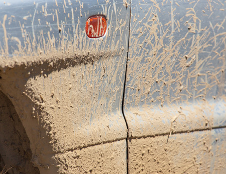 Dirt on the car in the summer .