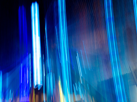 Blue light indoors in motion as abstract background. Banco de Imagens - 119234718