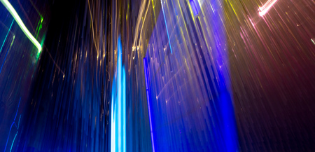 Blue light indoors in motion as abstract background. Banco de Imagens - 119234978