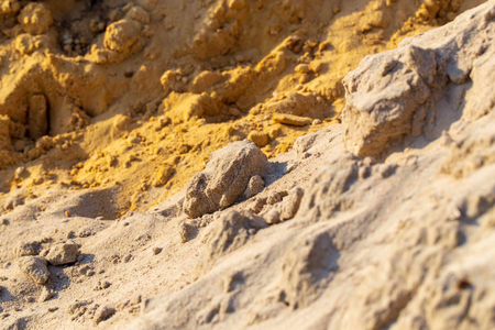 Construction sand as an abstract background.