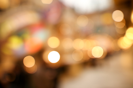 Bokeh in the mall as an abstract background. Texture Stock Photo