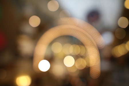 Bokeh in the mall as an abstract background. Texture