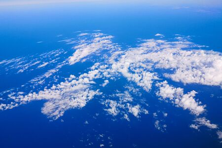 Black sea as background view from an airplane.