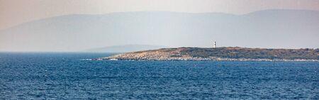 Shore in the Aegean Sea. Peninsula