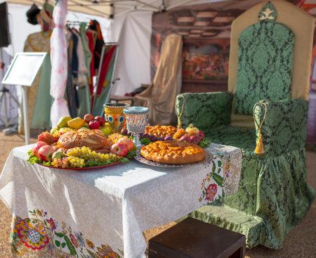 Lipetsk, Russia - September 21, 2019: Gastronomic festival. Fair in the park. Éditoriale