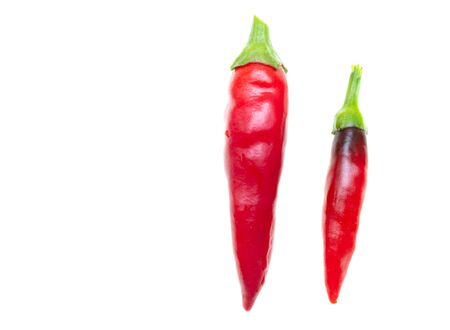 Red chili pepper isolated on a white background.