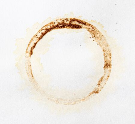 Stains from a glass with coffee on a white background.