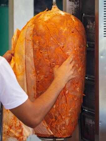 Grilling meat for pita bread. On the street in Turkey Reklamní fotografie
