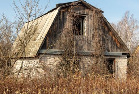 Old collapsing house in the country.