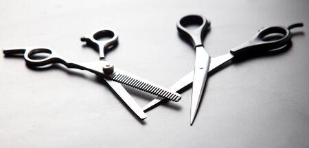 Scissors for haircuts. Professional tool. Фото со стока