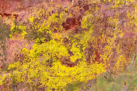 Old rusty metal painted with paint as an abstract background. Texture 版權商用圖片 - 141662632