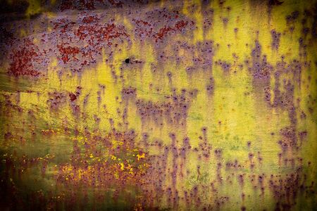 Old rusty metal painted with paint as an abstract background. Texture 版權商用圖片