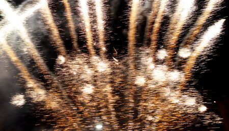 Light from the fireworks at night as an abstract background. Texture