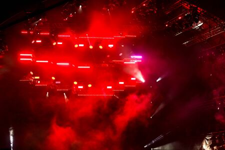 Red light on a rock concert stage as background. Banque d'images - 150185372