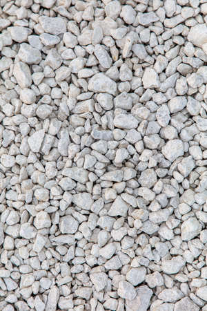 Stone gravel at a construction site as a background. Texture Stock Photo