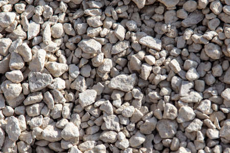 Stone gravel at a construction site as a background. Texture