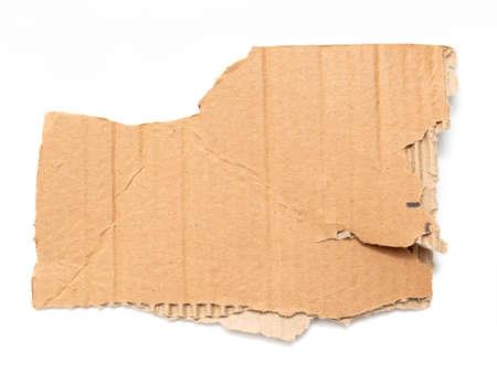 Cardboard sheet isolated on white background.