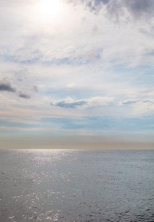 Horizon of sea and sky water as background. Banco de Imagens