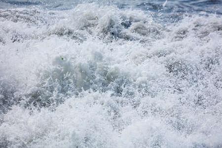 Splashing big waves on the seashore. Storm Banco de Imagens - 167321945