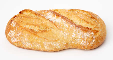 Fresh bread isolated on a white background. Close-up Banco de Imagens - 167321683