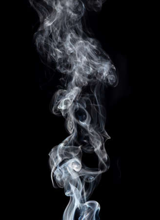 Smoke isolated on black background. Abstraction Banco de Imagens