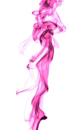 Pink smoke on a white background. Abstraction