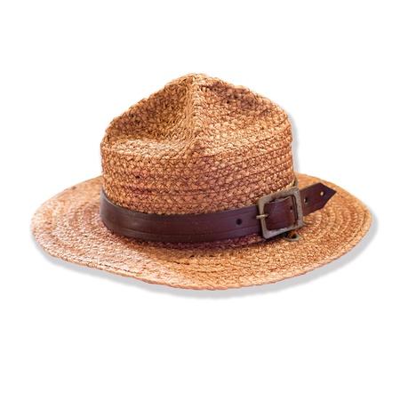 Sombrero de Boy Scout aislado sobre fondo blanco Foto de archivo