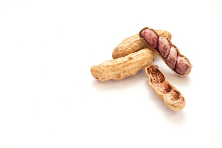 Peanuts isolate on white background photo