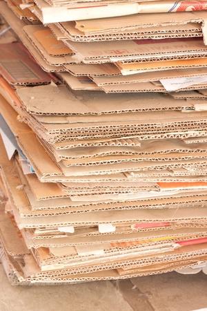 reciclar los papeles de las cajas Foto de archivo