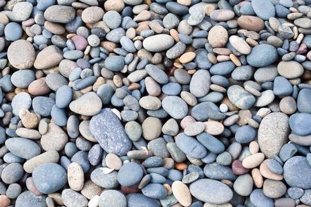 stones texture on beach