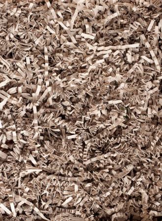 shred: texture of shredded paper for Gifting, Shipping and Stuffing Stock Photo