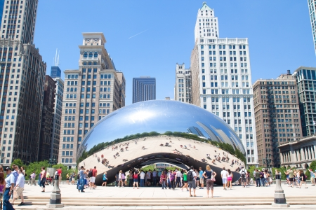 Cloud Gate, The bean at Millennium Park, Chicago on June 9, 2012