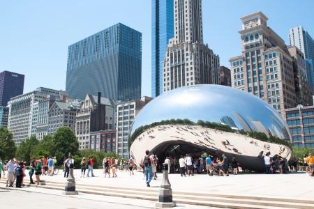 Cloud Gate, The bean at Millennium Park, Chicago on June 9, 2012