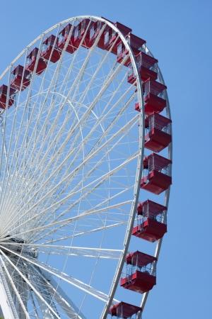 Red ferris wheel in navy pier, Chicago photo