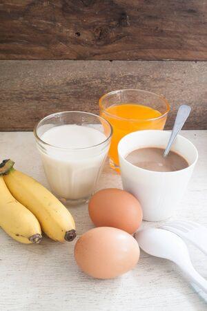 breakfast food: Breakfast food for health, close-up shoot Stock Photo
