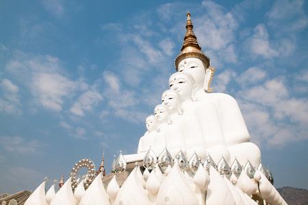 Buddha statue with blue sky background