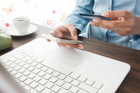 online payment, shopping online concept